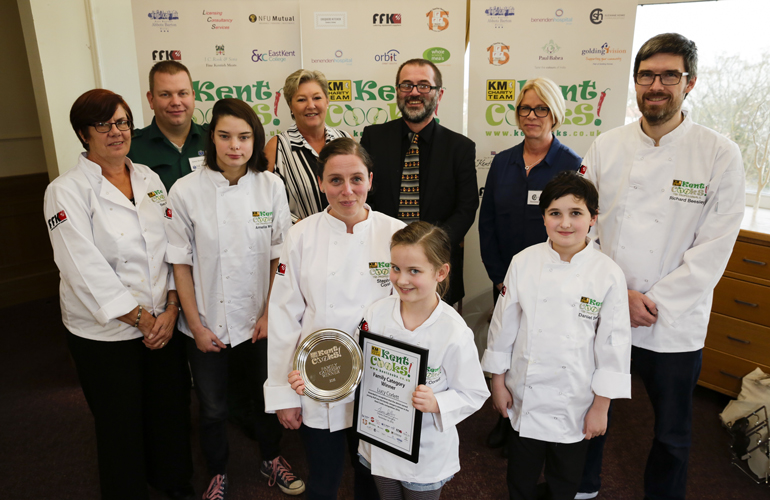Suzanne Helps Crown Winners of Kent Cooks 2016
