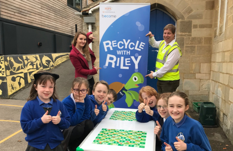 Thrupp Primary School triumphs in recycled plastic challenge