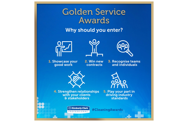 Why enter the Kimberly-Clark Professional Golden Service Awards 2020? Here are five solid gold reasons why you should enter
