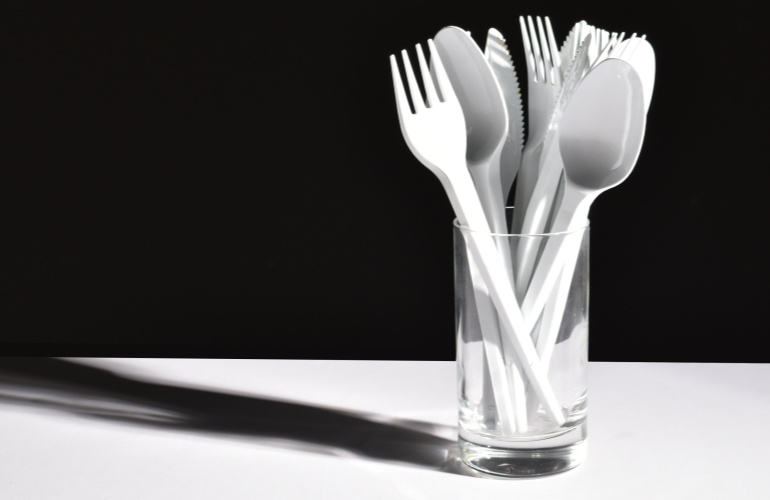 No excuse for single use with recycled PET cutlery
