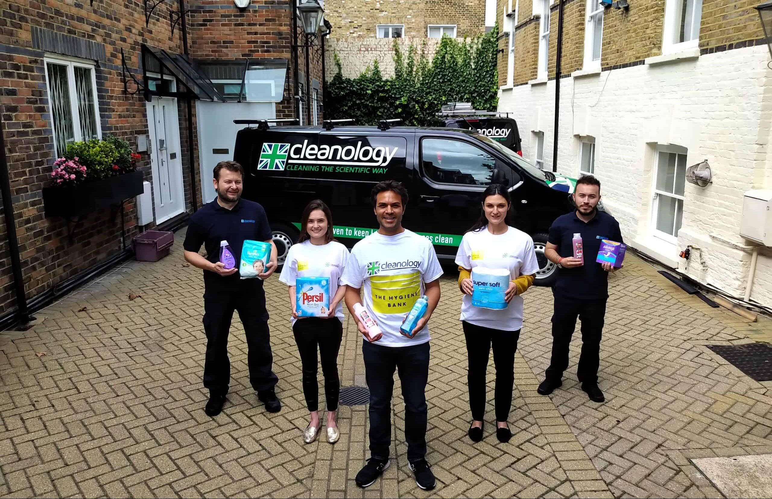 Cleanology works with The Hygiene Bank to help alleviate hygiene poverty at Christmas